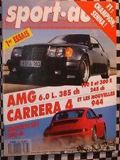SPORT AUTO1988 MERCEDES AMG 6.0 L + 300 + 190 / PORSCHE 911 CARRERA 4 + 944 II