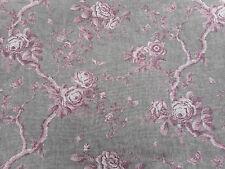 Ralph Lauren Fabric 'Ashfield Floral Voile' 1.5 METRES Vintage Blush Linen Sheer