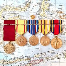 WWII US NAVY MEDAL GROUP GOOD CONDUCT AMERICAN ASIATIC PACIFIC CAMPAIGN VICTORY