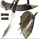 Lord Of The Rings Elven Knife/sword of Strider with Wall Plaque