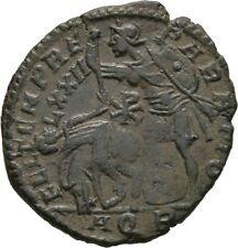 LANZ rome Constantius Gallus Caesar Aquilée ae2 HORSEMAN Chi rho LXXII ± jul667