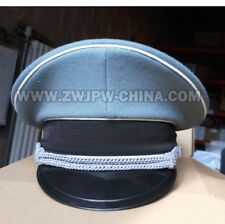 WWII WW2 GERMAN SS ELITE OFFICER HAT OFFICER CAP WITH TWO CLOTHING BADGES