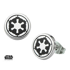 OFFICIAL STAR WARS GALACTIC EMPIRE SYMBOL ROUND STUD EARRINGS (BRAND NEW)