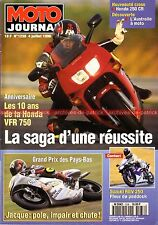 MOTO JOURNAL 1238 Road Test SUZUKI RGV 250 HONDA VFR 750 RC 30 NSR 500 V2 1996