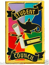 """STUDENT COUNCIL"" Enamel Lapel Pins/Wholesale Lot of 25/ALL NEW LINE!"