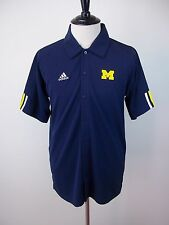 NEW Mens Adidas ClimaCo University Of Michigan Short Sleeve Button Front Shirt S