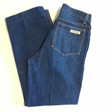 Calvin Klein Vtg Jeans 70s 80s Blue High Waist Straight Fit  Size 28 X 27.5 USA