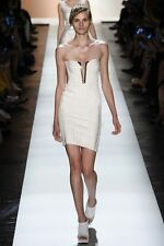 HERVE LEGER SHARAM ALABASTER BANDAGE DRESS SMALL