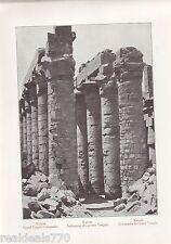 """Vintage Antique Print of Egypt 1900's - """"Kamak. Grand Temple Colonades"""""""
