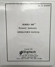 Digitech Series 500 Protocol Analyzers Operator Manual P/N 810-00195B
