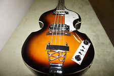 New Left Handed 4 String Beatle Bass Tobacco Sunburst finish