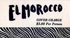 Vintage Original El Morocco New York Nightclub Ticket / Place Card