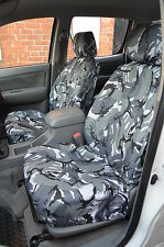 Toyota Hilux Extra Cab 2005 - 2016 Grey Camo Tailored Front & Rear Seat Covers