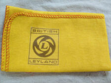BRITISH LEYLAND CLASSIC CAR: HI-QUALITY YELLOW CLEANING DUSTER CLOTH WITH LOGO.