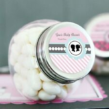 24 Gender Reveal Party Personalized Candy Jars Baby Shower Favors