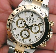 Rolex DAYTONA 116503 Mens Steel & Yellow Gold White Index Dial Oyster 40MM