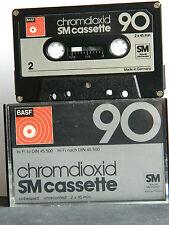 BASF Chromdioxid 90 SM Compact Cassette 1974 UNBESCHRIFTET Sammler Tape