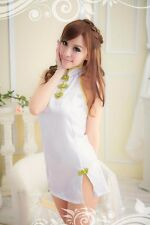 Brand New Size S Maid White Lace Cheongsam Cosplay Costume Lingerie Sleepwear