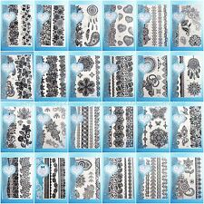 24 sheets/lot Henna lace temp tattoo black Neck Arm  wholesale