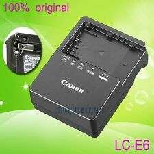 Genuine Original Canon LC-E6 LC-E6E Charger for LP-E6 Battery EOS 5D Mark II 70D