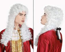 Perruque longue Blanche MARQUIS Déguisement Adulte Homme Costume Noble Roi Juge