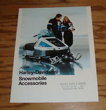Original 1975 Harley Davidson Snowmobile Accessories Sales Brochure 75