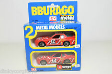 BBURAGO BURAGO 4200 GIFT SET GIFTSET 2 CARS PORSCHE 924 RALLY NEAR MINT BOXED