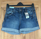 New Look Ladies Boyfriend Fit Turn Up Denim Jeans Shorts Size 8-10 Bnwt
