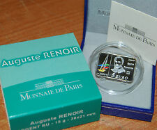France 2009 Auguste RENOIR 5 euro Silver Proof - Francia 5€ plata silber