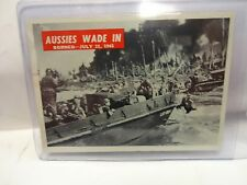 1965 War Bulletin Card # 84 Aussies Wade In Borneo  July 21st 1945
