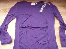 TB0345 Tom Tailer Damen Shirt Langarmshirt Tunika Print Silber Lila M 38 40 TOP