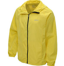 ASICS men's packable water/wind resistant reflectivity jacket yellow small