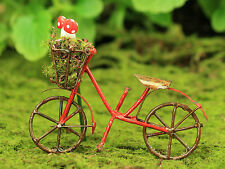 Bicycle with Woodland Mushrooms ~ Miniature ~ Fairy Garden  ~ Bike ~ Handmade