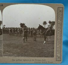 WW1 Stereoview Our Gallant Fighters In The Persian Gulf Realistic Travels