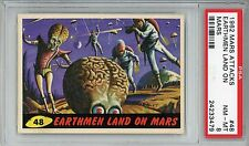 1962 Mars Attacks #48 Earthmen Land On Mars PSA 8 NM-MT
