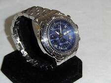 SWISS WATCH INTERNATIONAL BLUE  DIAL  VERY HARD TO FIND VALJOUX 7750 NICE
