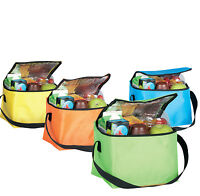 Lunch 6 Cans Food Insulated Cooler Bag Box Summer Camping Picnic Shoulder Strap