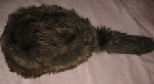 VIRTIS Faux FUR Davey Crockett Coon Skin Furry Tail Hat Adult Costume Accessory