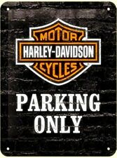 Harley Davidson Parking Only small steel sign   200mm x 150mm    (na)