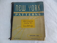 January 1943 Pattern Order Book NEW YORK GOLD SEAL PATTERNS