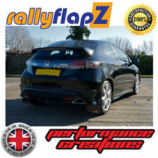 Mud Flaps to fit HONDA CIVIC TYPE R (FN2) New Gen (07 on) Black Logo (BIG)