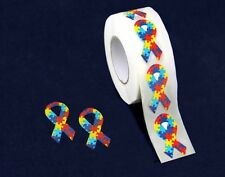 Small Autism Awareness Ribbon Stickers (500 Ct)