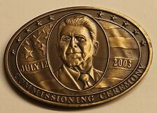USS Ronald Reagan (CVN-76) July 12, 2003 Commissioning Navy Challenge Coin