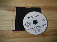 CD Pop Martin Locher - Der Vorhang fällt (1 Song) Promo ARTISTS & ACTS cd only