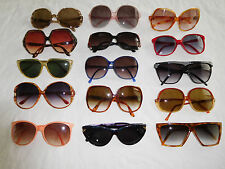 Lot of 15 Vintage Oversize Sunglasses 70s 80s 90s  (15-6)