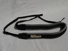 Genuine Black / Grey  NIKON  CAMERA NECK STRAP .  Neoprene
