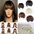 Clip in on bangs fringe hair extensions human Straight curly brown black blonde