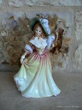 Royal Doulton Katie HN3360 Woman in Yellow Red Dress Green Hat Figurine England