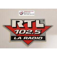ADESIVO GRAFICA STIKER AUTO MOTO RTL 102.5 12X7 CM