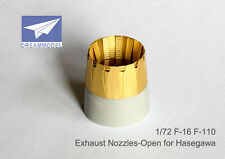 Dreammodel 0522 1/72 PE Exhaust Nozzles-Open for Fighter F-16 F110 for Hasegawa